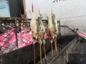 鮎の炭火焼き